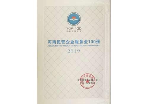 2019河南民营企业服务业100强
